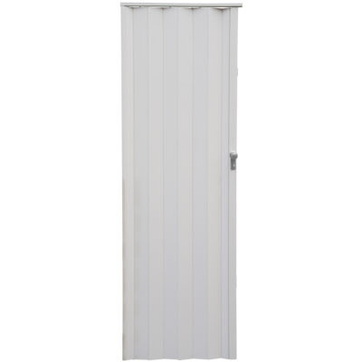 PVC concertina san marino white door