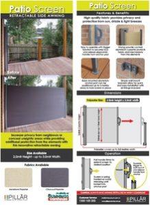 Retractable Patio Screen Pillar Products