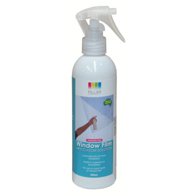 Window film application spray bottle