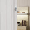 PVC concertina door san marino white oak