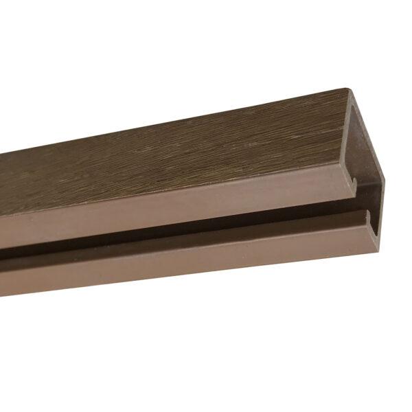 PVC door concertina Alpine walnut headrail